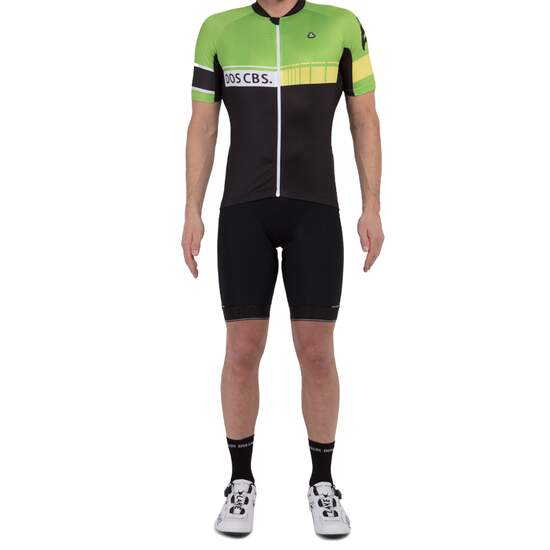 Zennhoh Win short sleeve jersey black greenery