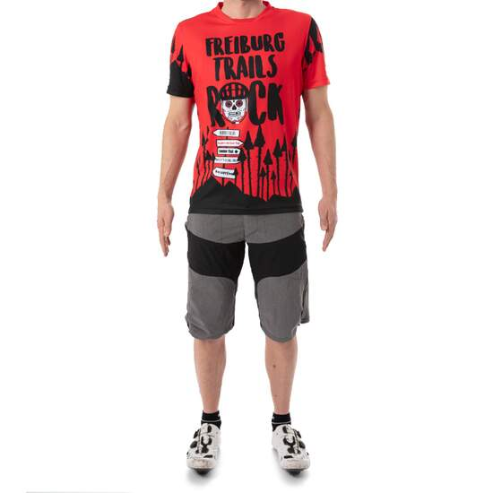Freiburg skull bike shirt, red