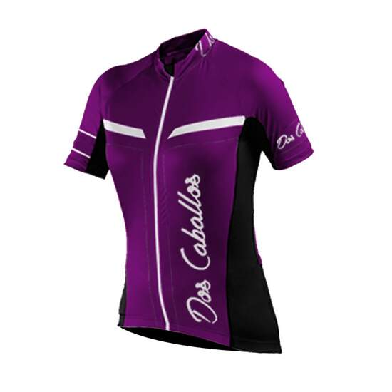 Dos Caballos Mireya Women Short Sleeve Bike Shirt pink...