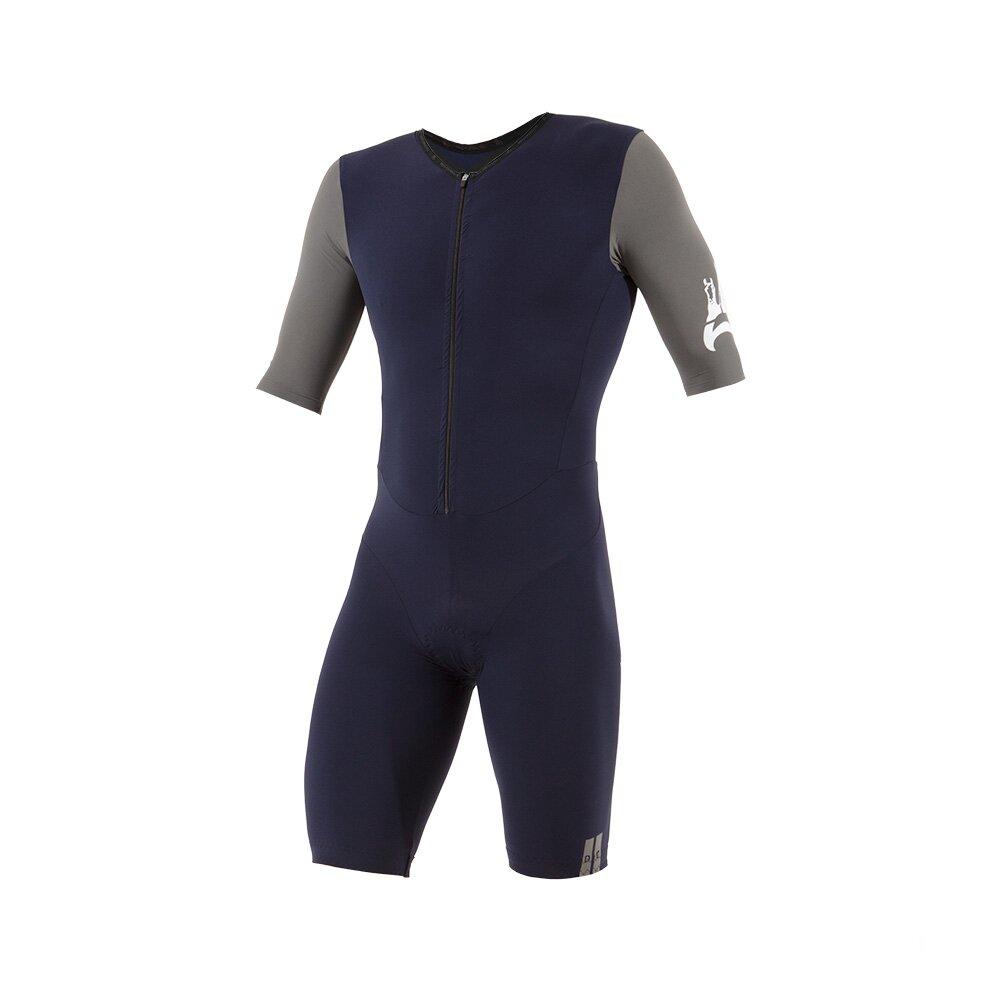 Triathlon Einteiler High Compression, Dunkelblau-grau