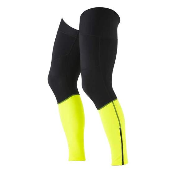 Dos Caballos leg warmers black neon yellow. Top performance