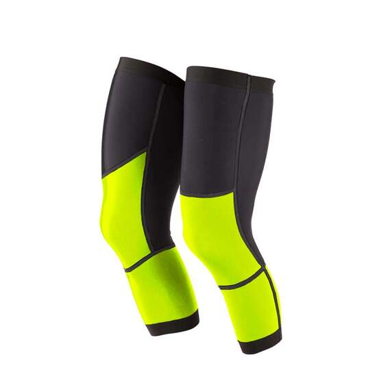 Dos Caballos knee warmers black neon yellow. Top performance
